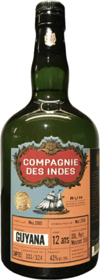 Compagnie des Indes 2005 Guyana DDL Port Mourant Still 12-Year rum