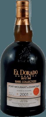 El Dorado 2001 Port Mourant & Diamond Velier 70th Anniversary 16-Year rum