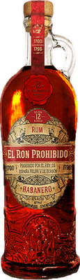 El Ron Prohibido Habanero 12-Year rum