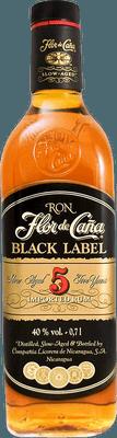 Medium flor de cana black label 5 rum