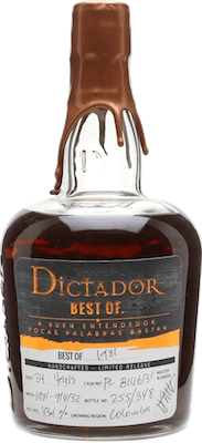 Dictador 1981 Best of 34-Year rum