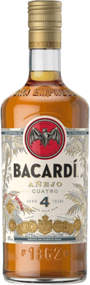 Medium bacardi anejo cuatro 4 year