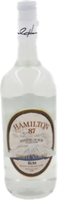 Medium hamilton white stache
